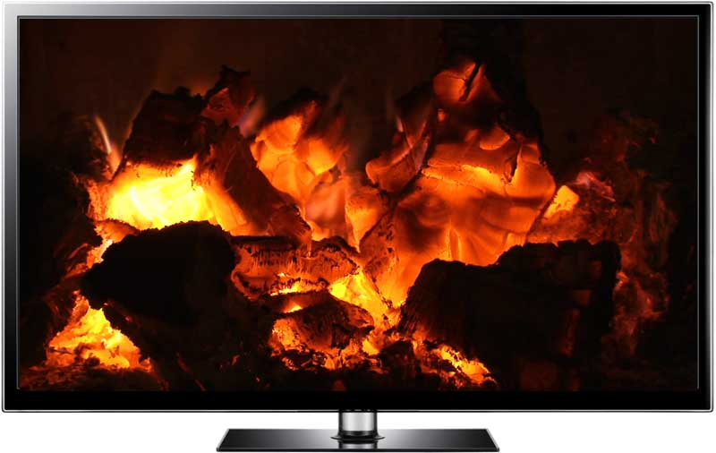 Fireplace Video Loop on any Media Player - Burning Cinders