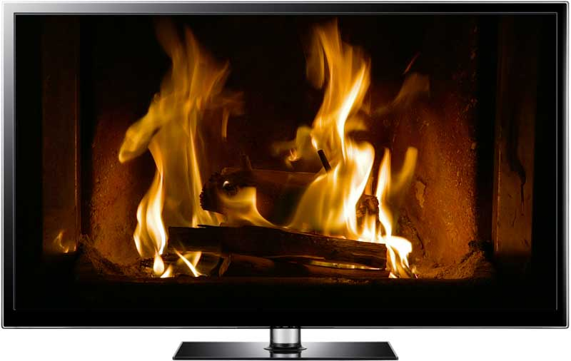 Brass Fireplace TV screensaver. The beautiful golden flames in this fireplace video in Full HD warm your screens to make any room feel more comfortable.