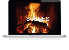 fireplace screensaver for Mac aor Windows laptops