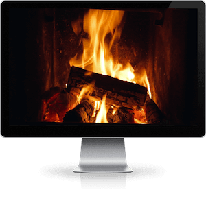 fireplace video to loop on any screen