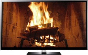 fire on TV