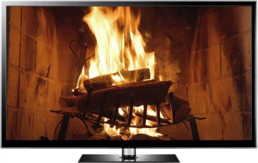 classic fireplace video