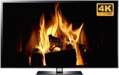 4k fireplace video